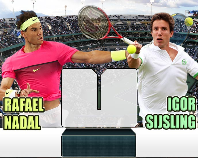 Nadal vs Sijsling en Indian Wells 2015