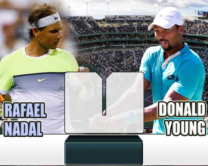 Nadal vs Young en Indian Wells 2015