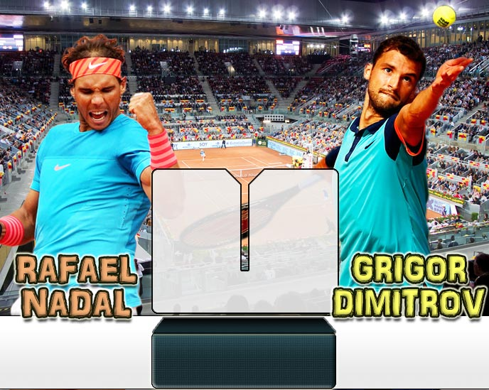 Nadal vs Dimitrov en Madrid 2015