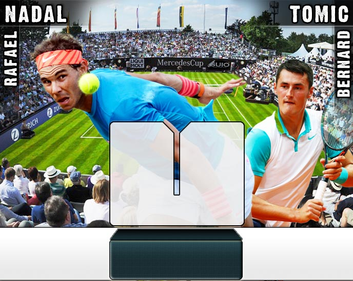 Nadal vs Tomic en Stuttgart 2015