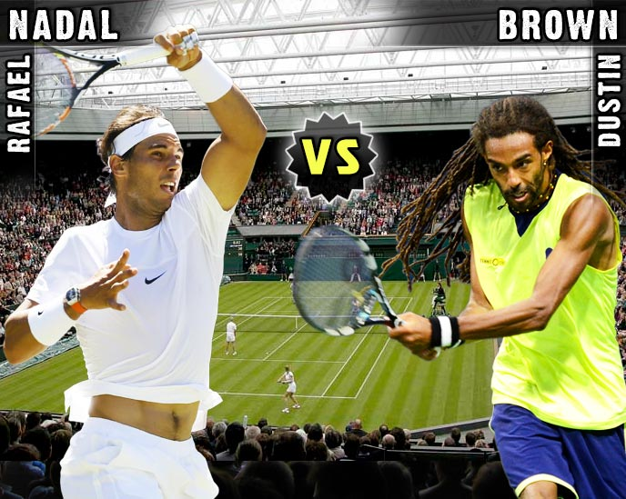 Nadal vs Brown en Wimbledon 2015
