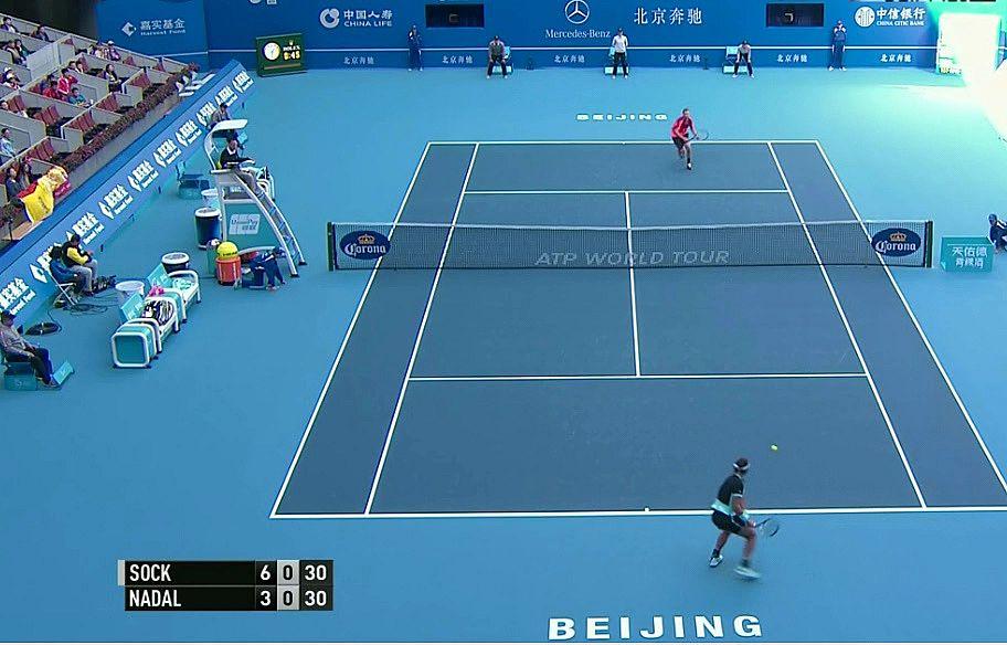 PASSING de Rafa Nadal a Jack Sock en Beijing