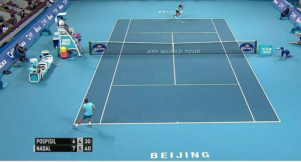 PASSING y MATCH POINT de Rafa Nadal a Vasek Pospisil en Beijing